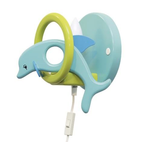 28246 - detské nástenné svietidlo delfín