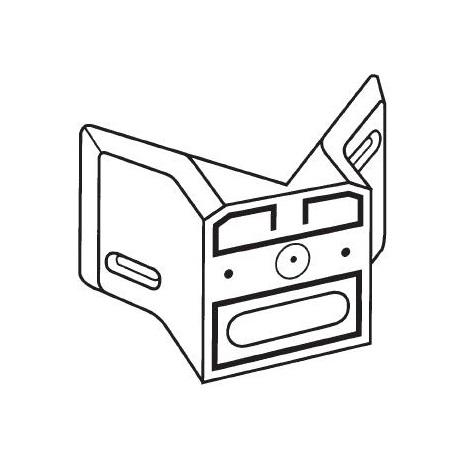 630119 - rohový držiak 01 čierny