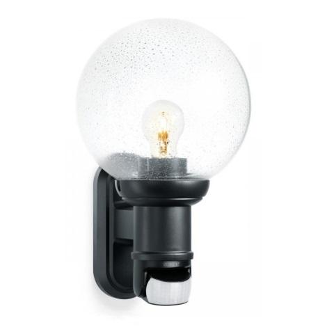 634216 - L 560 S čierna senzorová nástenná lampa pre vonkajšia priestory