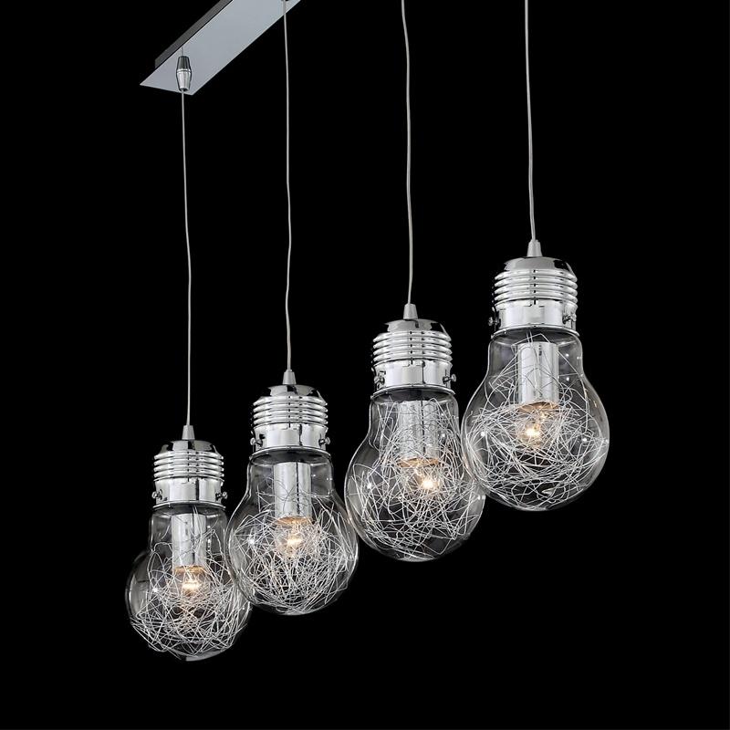 Novinka luster v tvare iarovky svet svietidiel for Suspension luminaire plusieurs ampoules