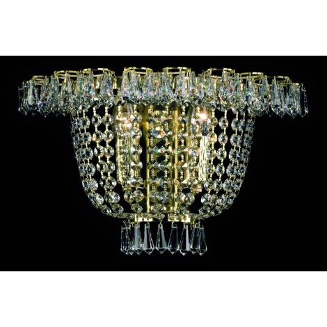 Artcrystal PWB108100002 - Nástenné svietidlo 2xE14/40W