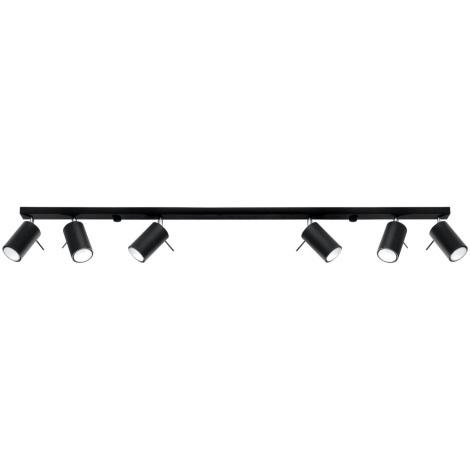 Bodové svietidlo RING 6L 6xGU10/40W/230V čierna
