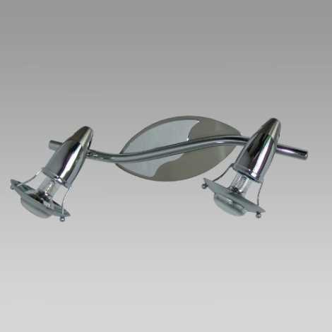 Bodové svietidlo ZEUS 2xE14/R50/40W mat. chróm/chróm