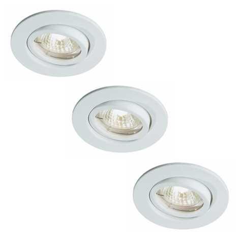 Bright Light 72811/83/31 - SADA 3x Kúpeľňové podhľadové svietidlo 3xGU5,3/20W/230V