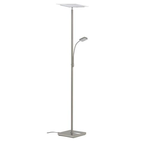 Briloner 1292-022 - LED Stmievateľná stojacia lampa EVER 1xLED/21W/230V + 1xLED/3,5W