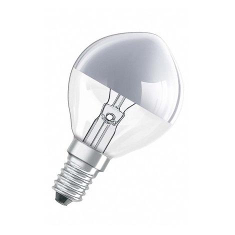 Dekoračná žiarovka E14/25W SPC MIRROR P SILVER