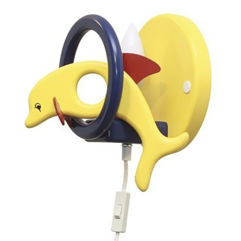 DELFÍN nástenka žltá/modrá