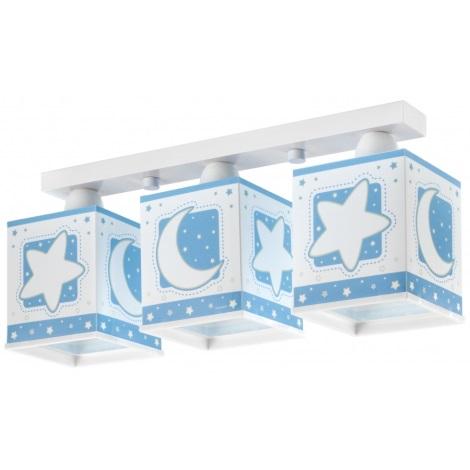 Detské stropné svietidlo BLUE MOON 3xE27/60W