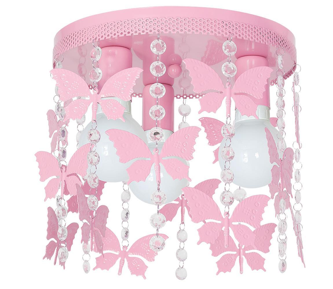 Milagro Detské stropné svietidlo ELZA butterflies 3xE27/60W/230V