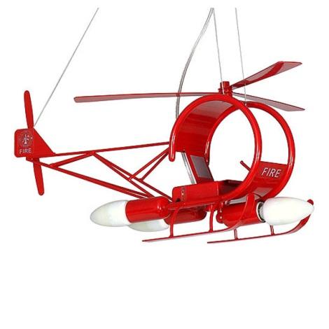 Detský luster helikoptéra - červená