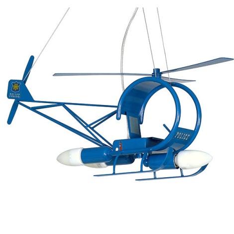 Detský luster helikoptéra - modrá