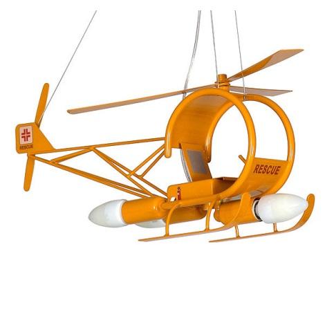 Detský luster helikoptéra - žltá