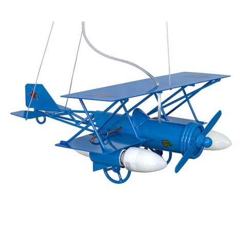 Detský luster lietadlo - modrá