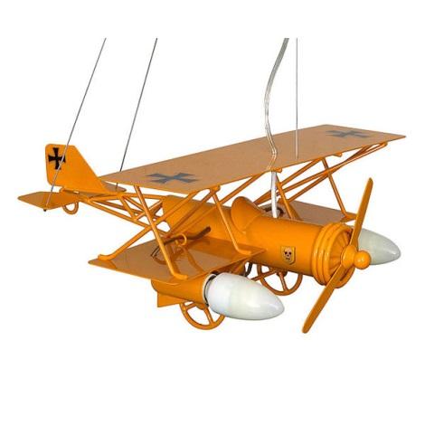 Detský luster lietadlo - žltá