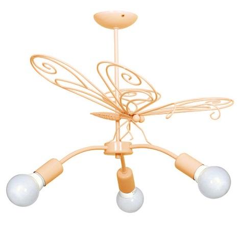 Detský luster Motyl - 3xE27/60W oranžová
