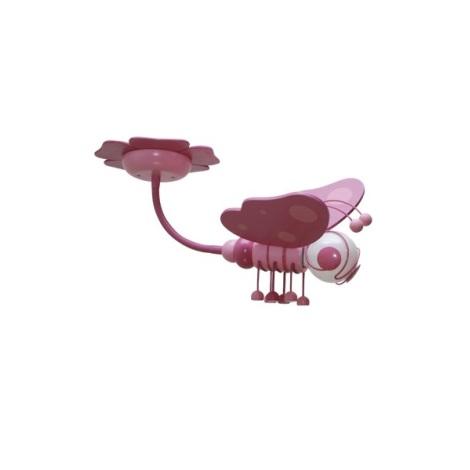 Detský luster MOTÝL fialová/ružova