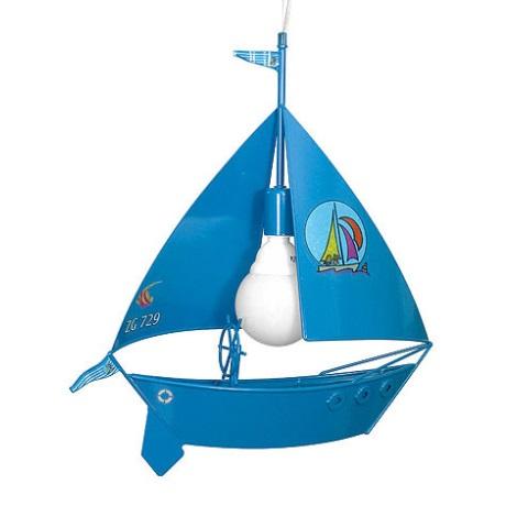 Detský luster plachetnica - modrá