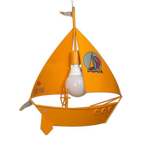 Detský luster plachetnica - žltá