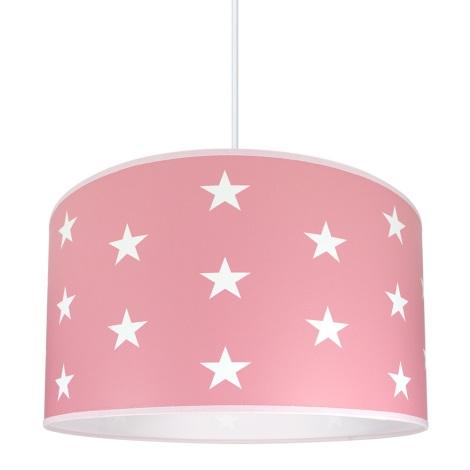 Detský luster STARS PINK 1xE27/60W/230V