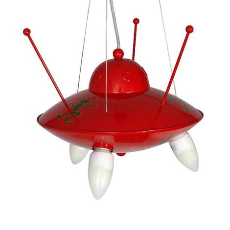 Detský luster Ufo - červená