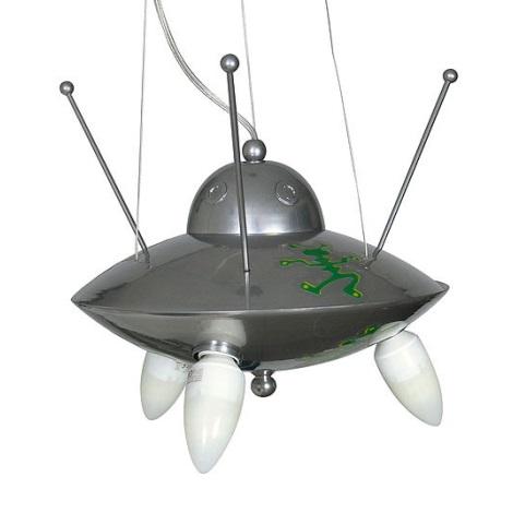 Detský luster Ufo - stříbrná