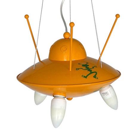 Detský luster Ufo - žltá