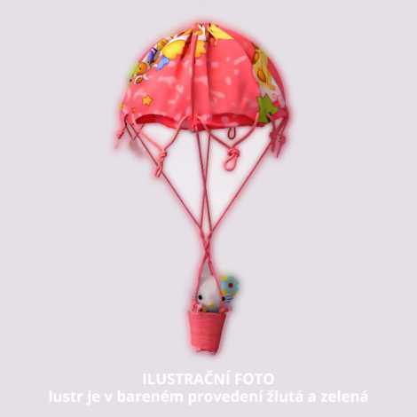 Detský luster W-BPRQQ YELLOW-GREEN 1xE27/60W