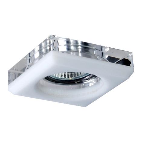 Downlight 71010 čírej/biele sklo 1xGU10/50W