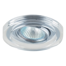 Downlight Family 1xGU10/50W chróm/krištáľ