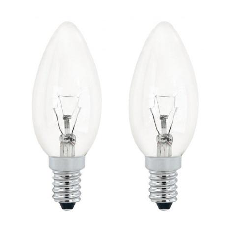 EGLO 12434 - žiarovka 1xE14/60W sada 2 žárovek
