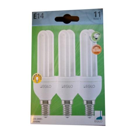 Eglo 12468 - 3 x úsporná žiarovka E14/11W/230V
