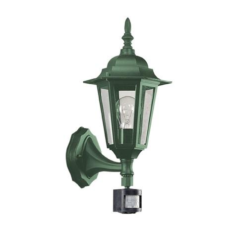 EGLO 13185 - Vonkajšie nástenné svietidlo LATERNA 6 1xE27/60W s čidlom