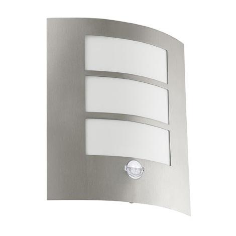 Eglo 18632 - Vonkajšie nástenné svietidlo so senzorom SANREMO 1xE27/60W/230V IP44