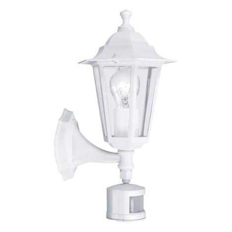 EGLO 22464 - Vonkajšie nástenné svietidlo s čidlom LATERNA 5 1xE27/60W