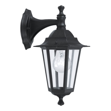 EGLO 22467 - vonkajšie nástenné svietidlo LATERNA 4 1xE27/60W čierna