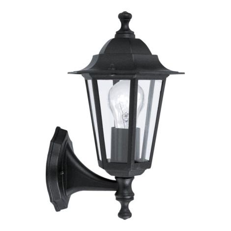EGLO 22468 - vonkajšie nástenné svietidlo LATERNA 4 1xE27/60W čierna