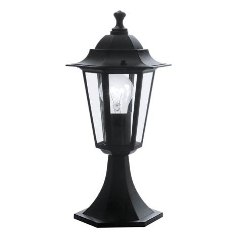 EGLO 22472 - vonkajšia lampa LATERNA 4 1xE27/60W čierna