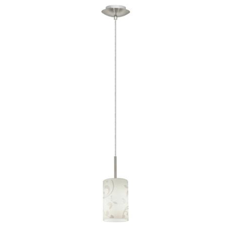 EGLO 22657 - luster TROY FLOWER 1xE27/11W matný chróm / biela