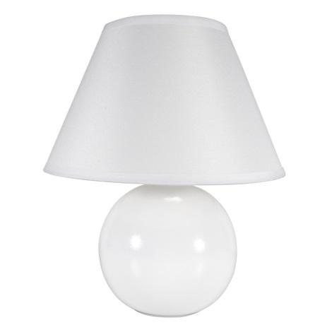 Eglo 23873 - Stolná lampa TINA 1xE14/40W/230V biela