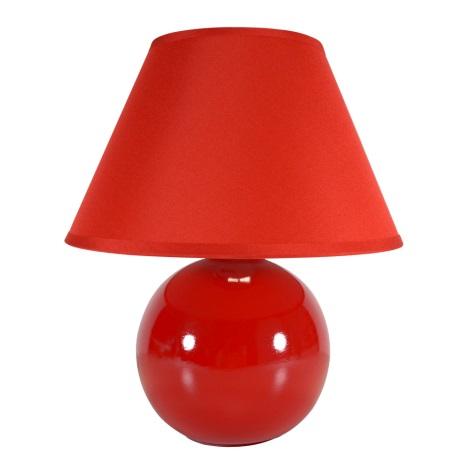 Eglo 23876 - Stolná lampa TINA 1xE14/40W/230V červená