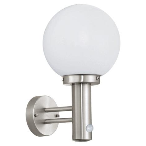 Eglo 27126 - Senzorová lampa pre vonkajšie priestory NISIA 1xE27/60W/230V