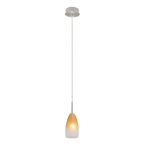 EGLO 27316 - luster 27316 1xE14/40W matný chróm / biela / oranžová