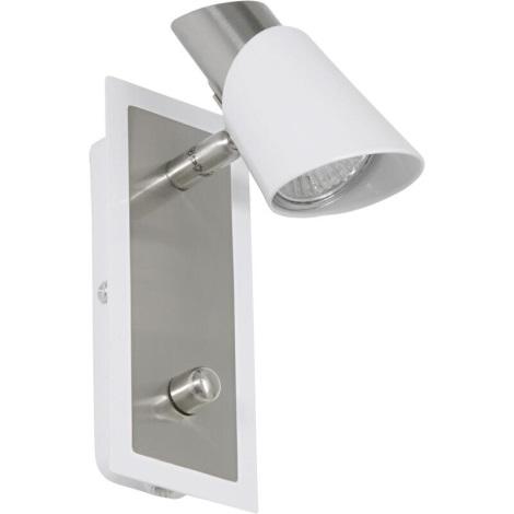 EGLO 27725 - Bodové svietidlo SKIP WHITE 1xGU10/50W