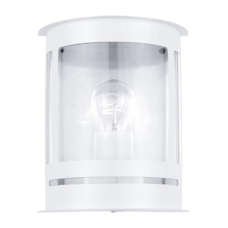 EGLO 30175 - Vonkajšie nástenné svietidlo DARIL 1xE27/60W biela