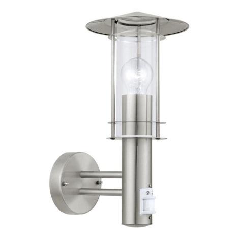 EGLO 30185 - Senzorové vonkajšie nástenné svietidlo LISIO 1xE27/60W