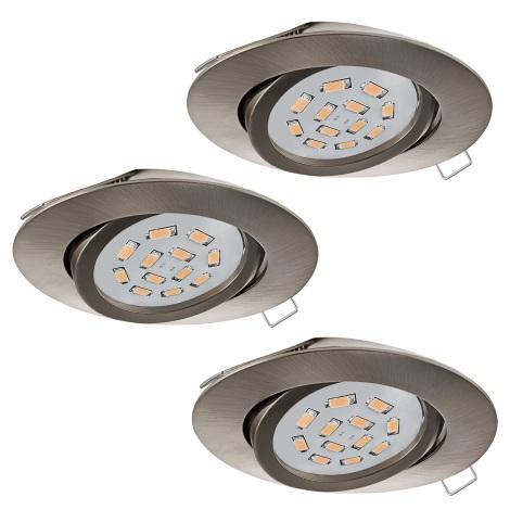 Eglo 31689 - SADA 3x LED Podhľadové svietidlo TEDO 3xGU10-LED/5W/230V