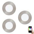 Eglo 32882 - SADA 3x LED RGB Podhľadové svietidlo FUEVA-C 3xLED/3W/230V
