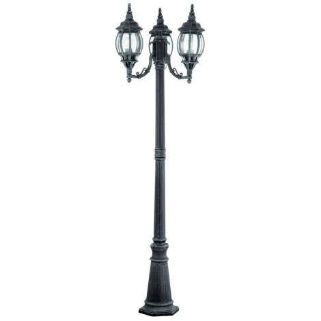 EGLO 4171 - vonkajšia lampa OUTDOOR CLASSIC 3xE27/100W čierna/zelená