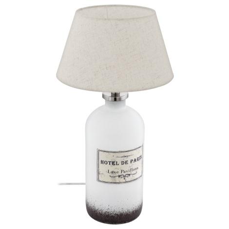 Eglo 49663 - Stolná lampa ROSEDDAL 1xE27/60W/230V