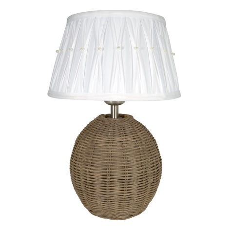 Eglo 78324E - Stolná lampa 1xE27/60W/230V ratan